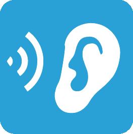 picto écoute bleu